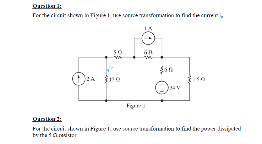 For the circuit shown in Figure 1. use source tran