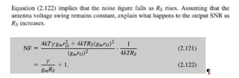 Equation (2.122) implies that the noise figure fai