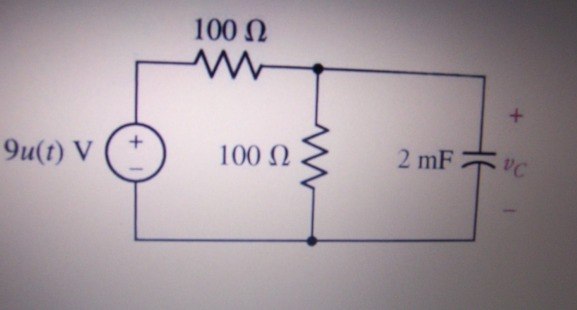 Referring to the RC circuit shown below, find an e