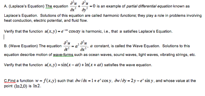 (Laplace's Equation) The equation is an example