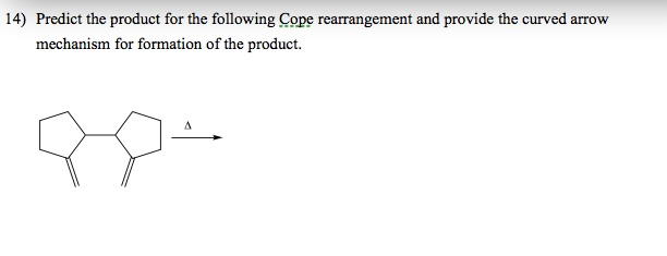 Predict the product for the following Cope rearran