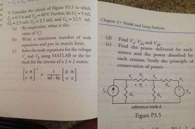 Consider the circuit of Figure P3.5 in which I =