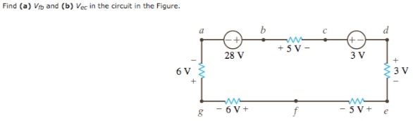 Find (a) Vfb, and (b) Vec in the circuit in the Fi