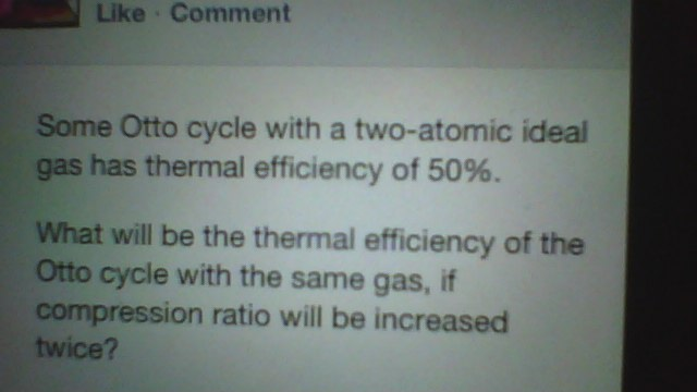 Some Otto cycle with a two-atomic ideal gas has th