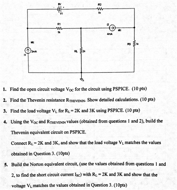 Find the open circuit voltage Voc for the circui