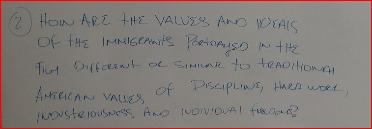 How are the values and ideas of the immigransts po