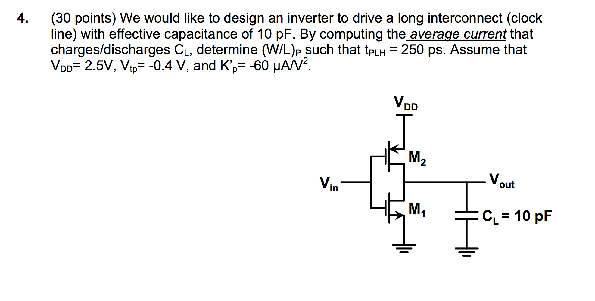 We would like to design an inverter to drive a lon