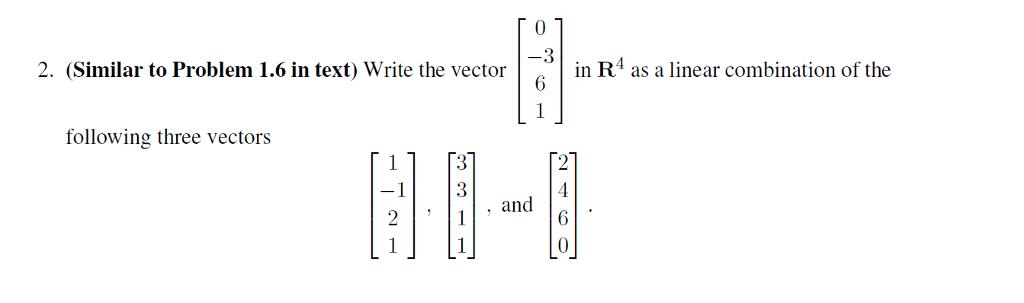 Linear Algebra/Vectors