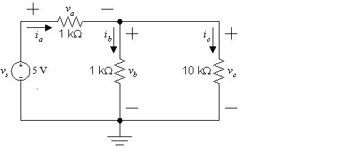 Perform a KCL & KVL & Ohm's Laws on the fo