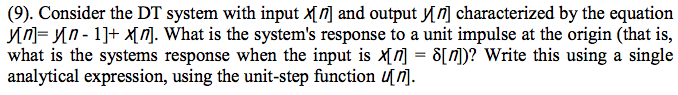 Consider the DT system with input x[n] and output