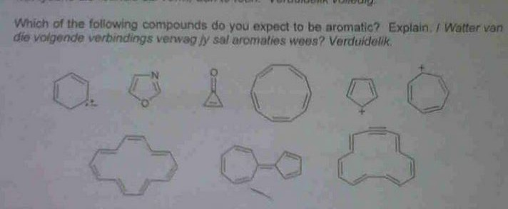 Which of the following compounds do you expect to