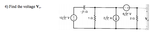 Find the voltage V 0.