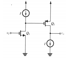 Figure below shows an IC MOS amplifier formed by c