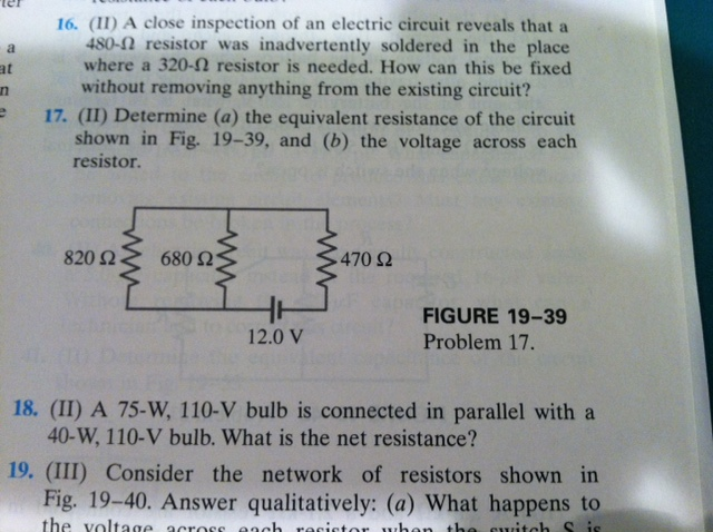 (II) A close inspection of an electric circuit rev