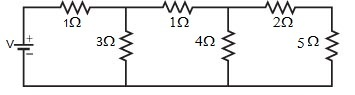 In Figure, the current through 5 Ohm resistor is 1