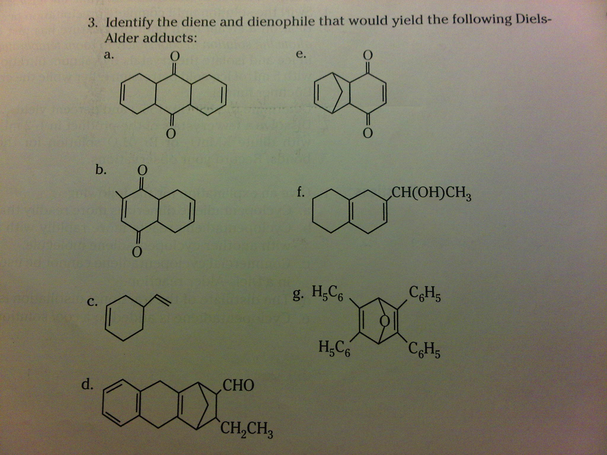 Give the products of the following Diels-Alder rea