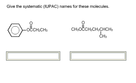 Give the systematic (IUPAC) names for these molecu