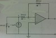 Find the output voltage Vo. Current directions are