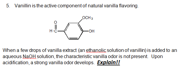 Vanillin is the active component of natural vanill