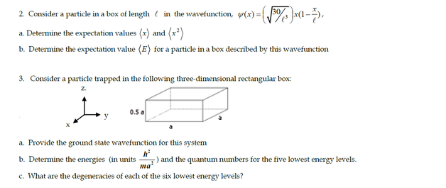 Consider a particle in a box of length l in the wa