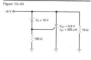 The zener diode of figure 15-43 is replaced by a 1