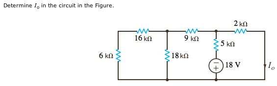 Determine Io in the circuit in the Figure.