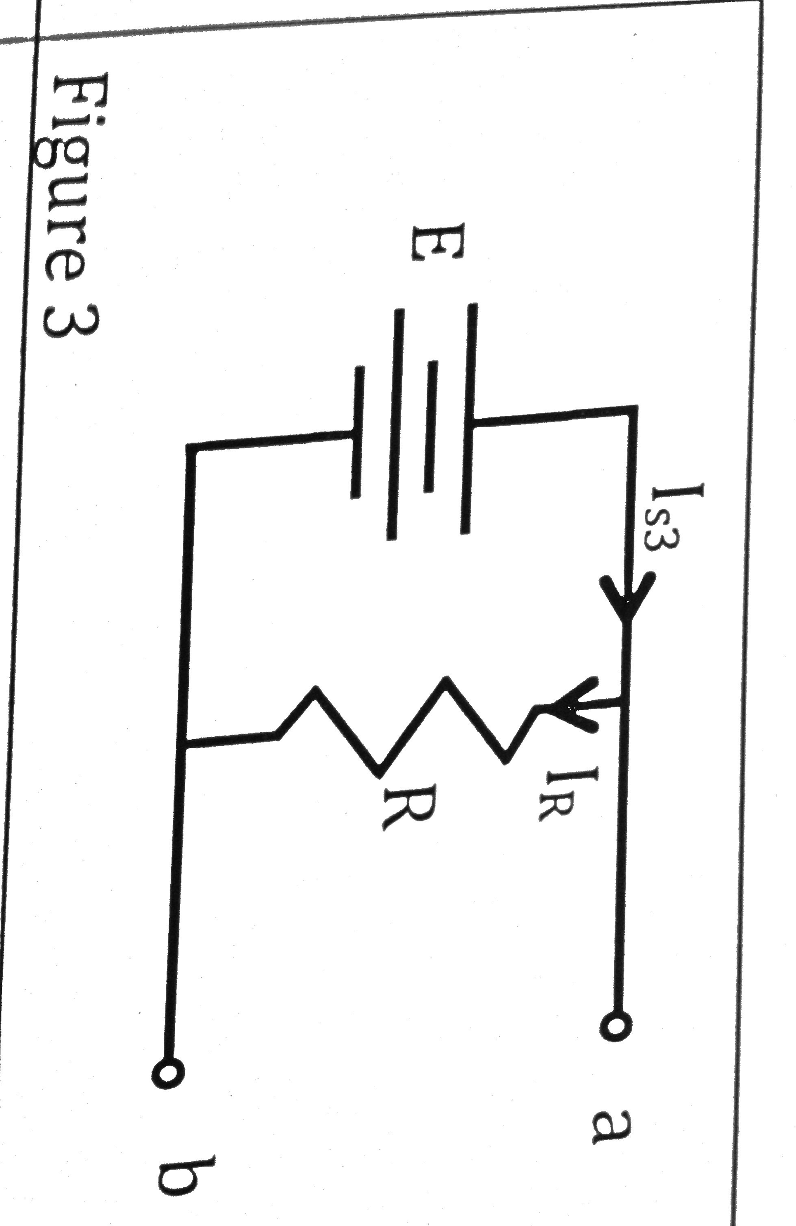 In Figure 3, E = +10V and R is unknown. What is Va
