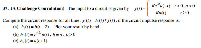 (A Challenge Convolution) The input to a circuit i