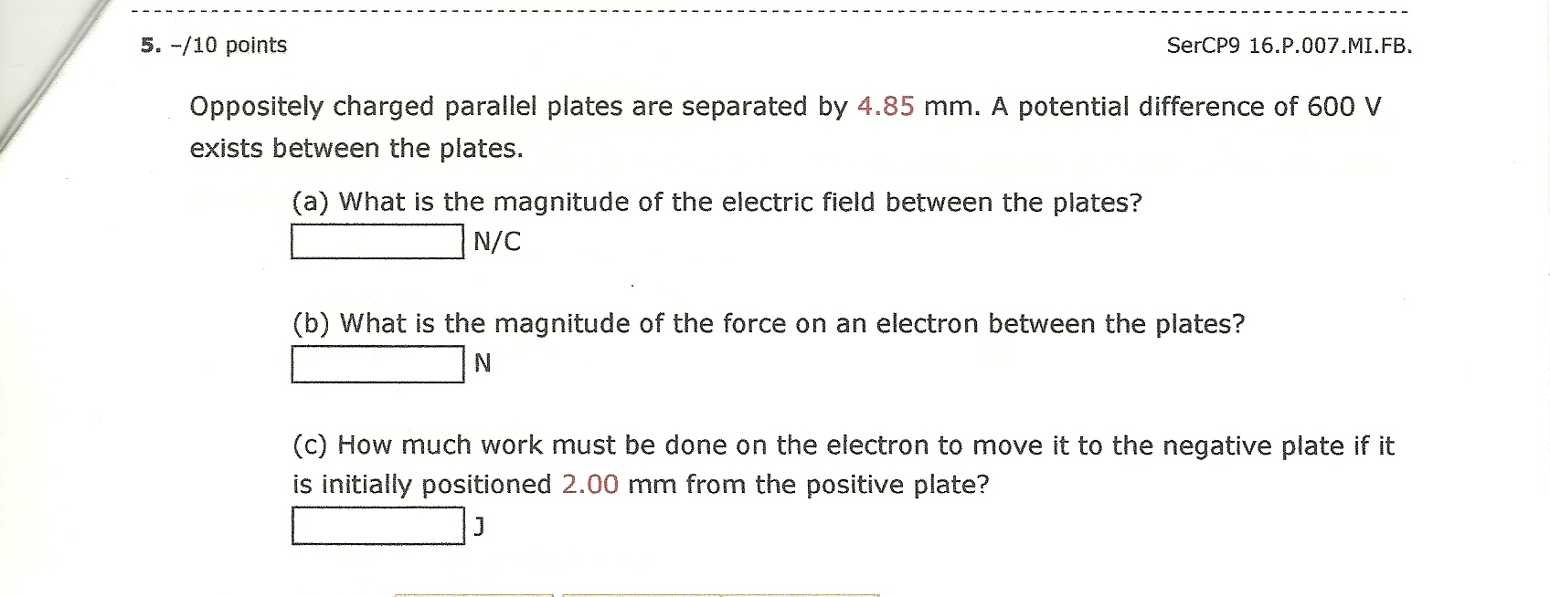Oppositely charged parallel plates are separated b