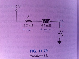 For the circuit in Fig.11.79 composed of standard