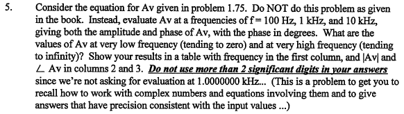 Consider the equation for Av given in problem 1.75