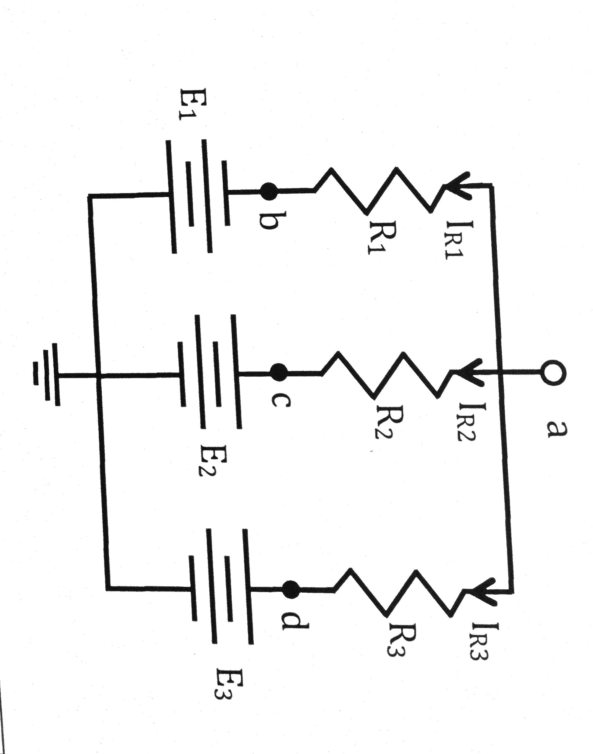 In Figure 4, E2 = E3 = 10V, R2 = R3 = 5 Ohms, and