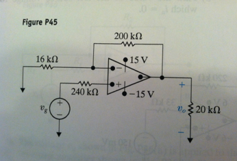 The op amp in the noninverting amplifier circuit o