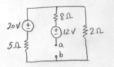 a) for the circuit shown use any circuit analysis