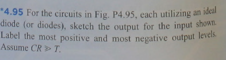 For the circuits in Fig. P4.95, each utilizing an