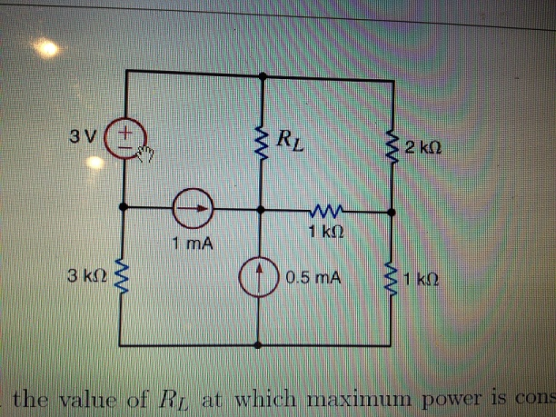 the value of RL at which maximum power is