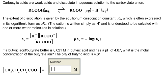 If a butyric acid/butyrate buffer is 0.021 M in bu