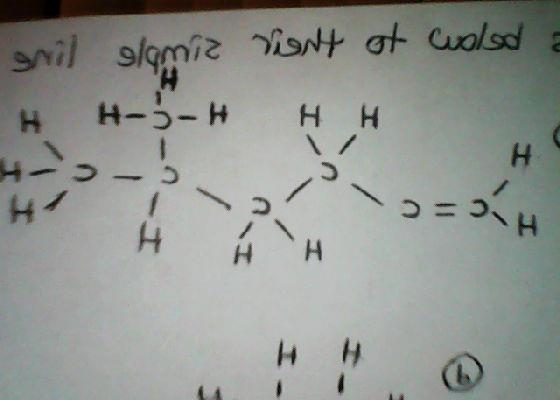 Convert the Lewis structure to its simple line equ