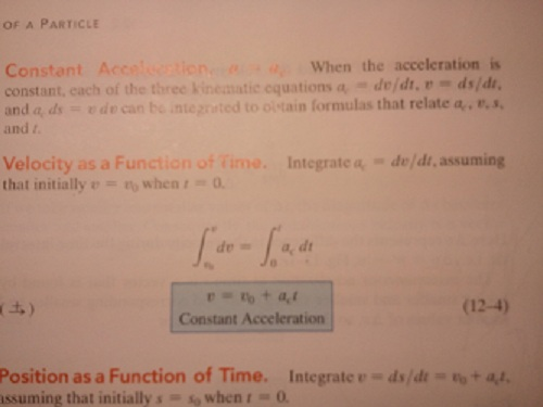 Constant Acceleration When the acceleration is co