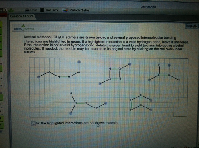 Several methanol (CH3OH) dimers are drawn below, a