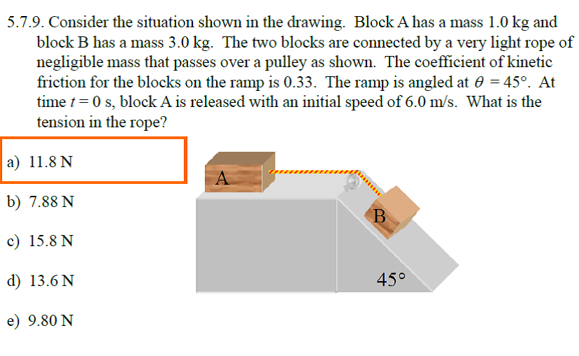Consider the situation shown in the drawing. Block