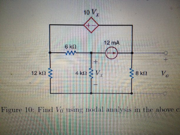 Find V0 using modal analysis in the above circuit
