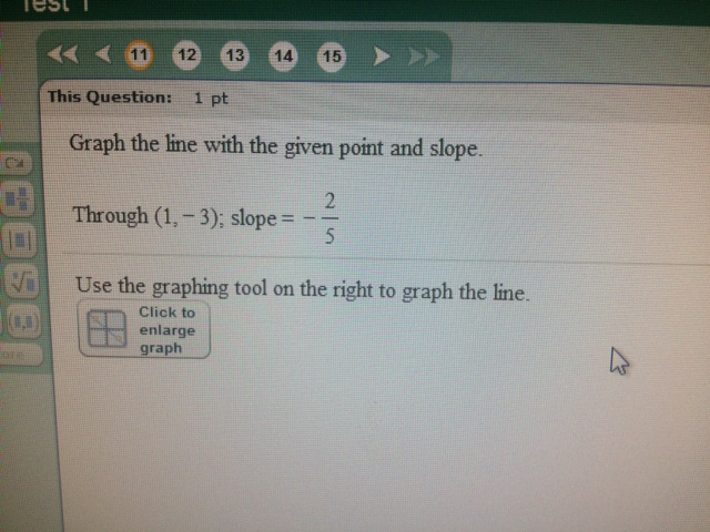 Graph the line with the given point and slope. Th