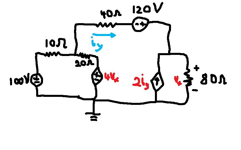 I can't seem to solve this circuit using nva i can