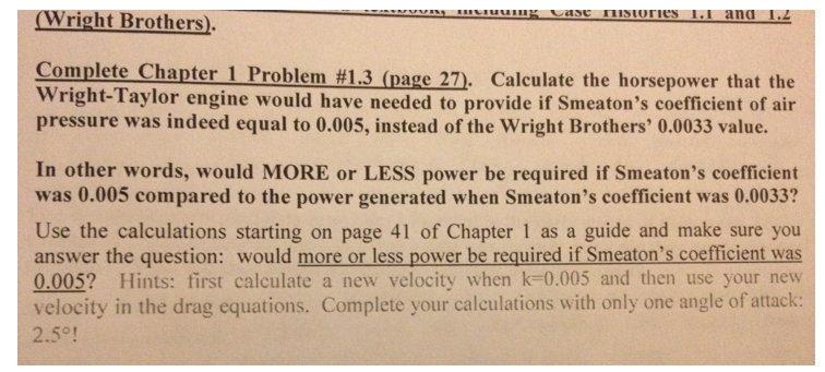 Calculate the horsepower that the Wright-Taylor en