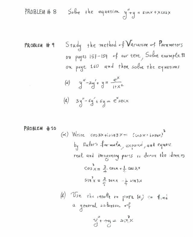 method of variation of parameters pdf