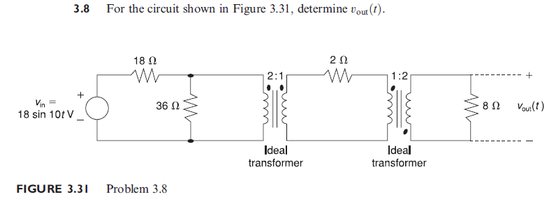 For the circuit shown in Figure 3. 31, determine