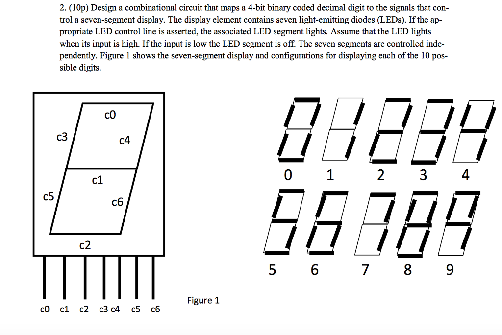 4 bit binary to decimal converter circuit