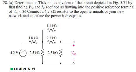 Determine the Thevenin equivalent of the circuit d
