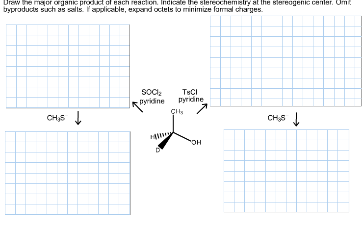 Draw the major organic product of each reaction. I